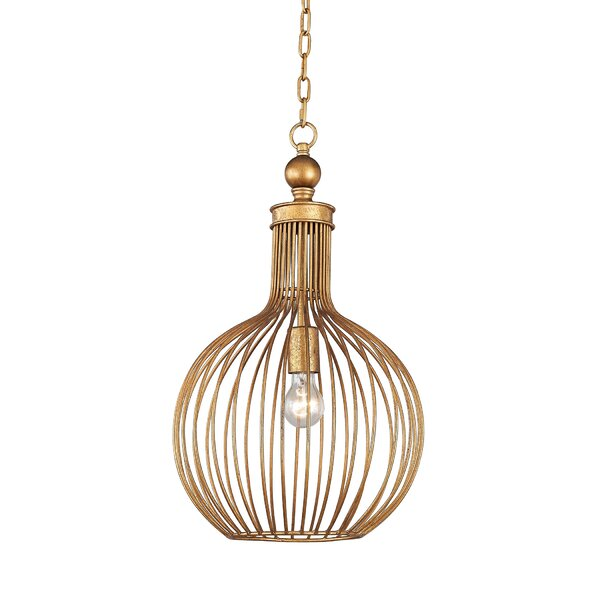 Ansonia 1-Light Globe Pendant by Bay Isle Home