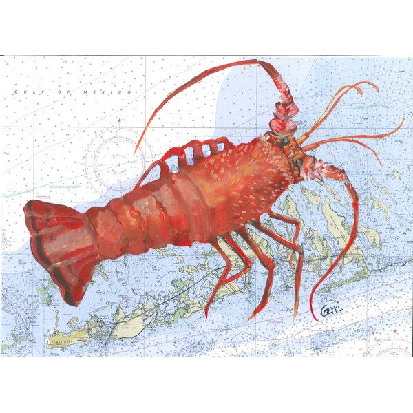 Spiny Lobster on Florida Keys Nautical 16 Placemat (Set of 4) by My Island