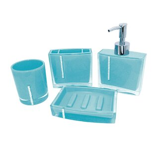 Attirant Reef 4 Piece Bathroom Accessory Set