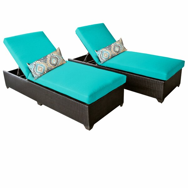 Reclining Chaise Lounge With Cushion (Set Of 2) By TK Classics