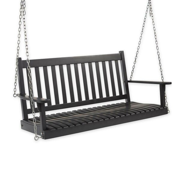 Slatted Wood Porch Swing by Plow & Hearth