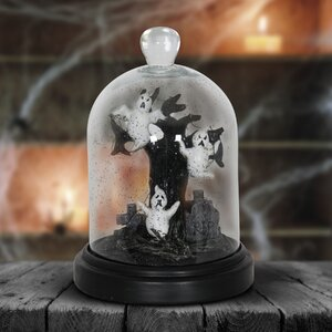 Spooky Dome Tree and Ghosts Lighted Display