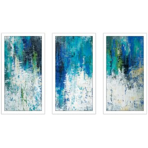 'Surface of the Lake' Framed Acrylic Painting Print Multi-Piece Image on Glass by Latitude Run