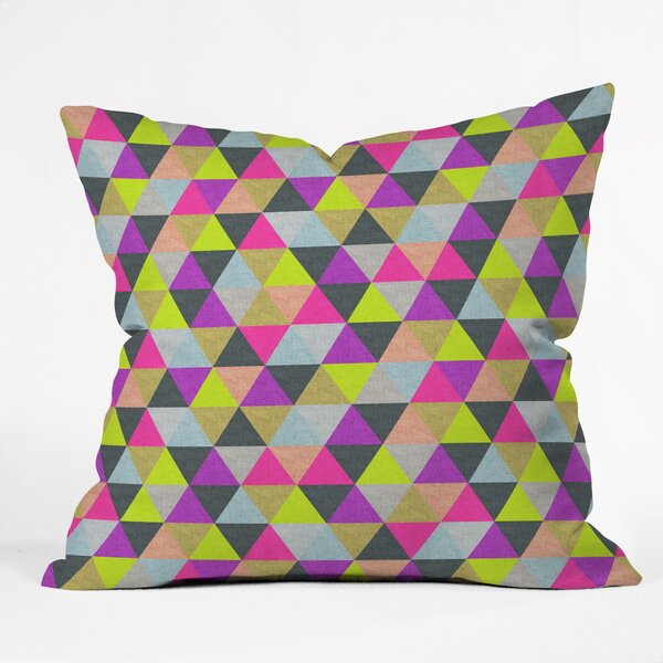 Bianca Green Pyramid Throw Pillow by Deny Designs