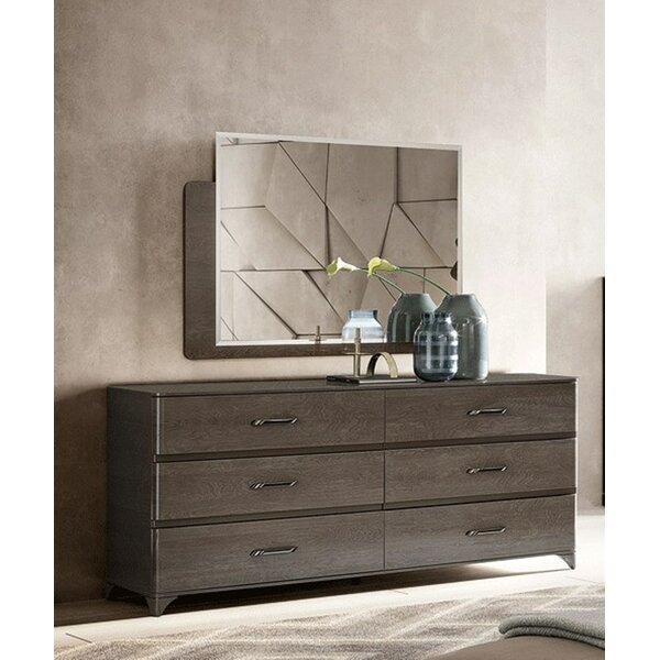 Dann 6 Drawer Double Dresser with Mirror by Brayden Studio