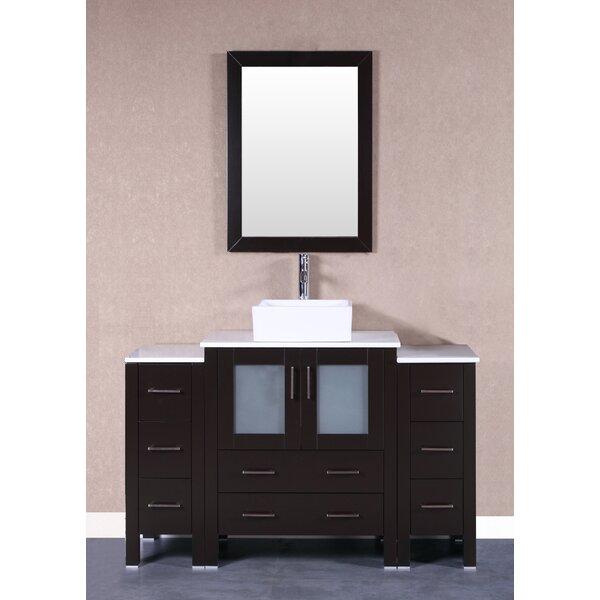 Rochelle 54 Single Bathroom Vanity Set with Mirror by Bosconi