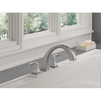 Tub Faucet Deck Mount Double Handle Trim Spotshield Stainless photo