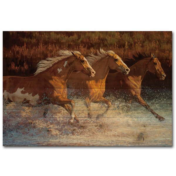Thundering Water Painting Print Plaque by WGI-GALLERY