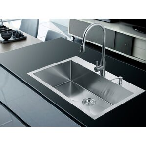 Drop In Stainless Steel Kitchen Sinks drop-in kitchen sinks you'll love | wayfair