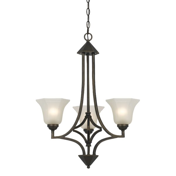 Imelda 3-Light Shaded Chandelier by Darby Home Co