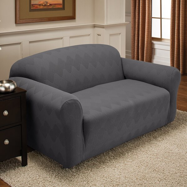 Levine Box Cushion Loveseat Slipcover By Red Barrel Studio 2019 Coupon