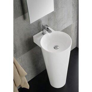 Lucido Messina Modern 16 Pedestal Bathroom Sink