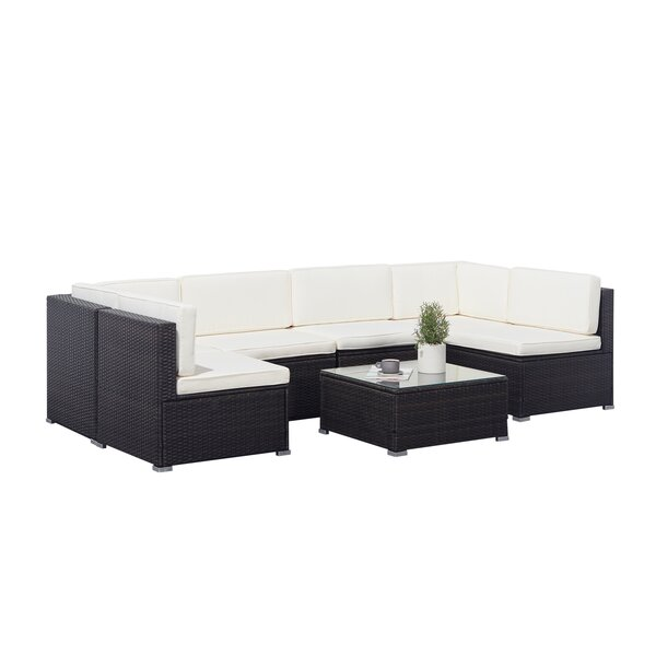 Goff Classic 6 Piece Sectional Seating Group with Cushions by Bay Isle Home