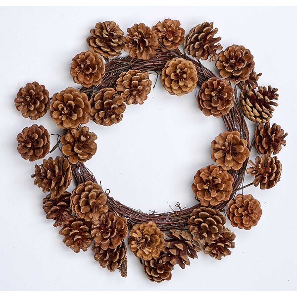 Pinecone 16 Wreath by Millwood Pines
