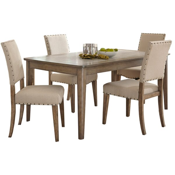 Crisp 5 Piece Dining Set by Three Posts