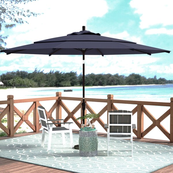 Mullaney 11' Market Sunbrella Umbrella By Beachcrest Home by Beachcrest Home 2020 Sale