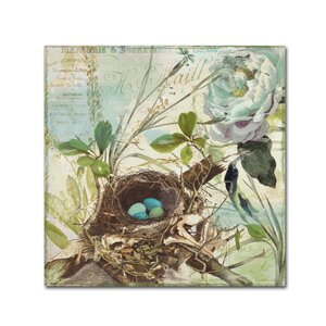 'Nesting II' by Color Bakery Graphic Art on Wrapped Canvas by Trademark Fine Art