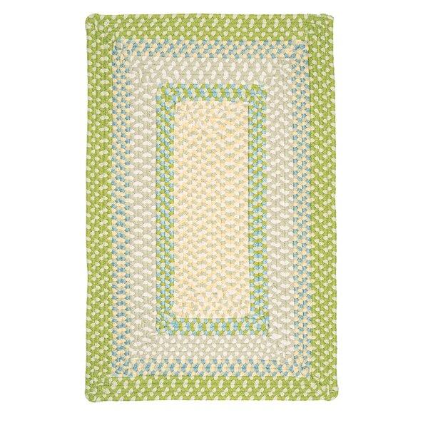 Marathovounos Handmade Braided Green/Beige Rug