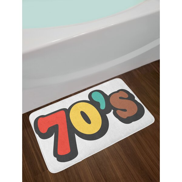 The Seventies Multicolor 70s Party Bath Rug by East Urban Home