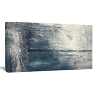 'Grey Abstract Pattern Oil Painting' Painting Print on Wrapped Canvas by Design Art