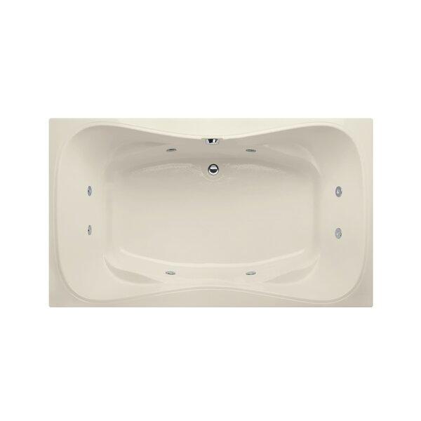 Builder Hourglass 72 x 42 Whirlpool Bathtub by Hydro Systems