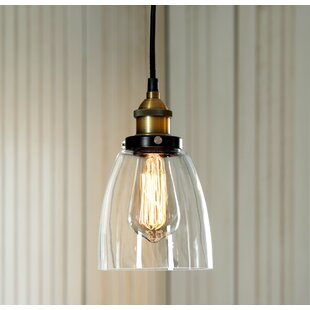 Affordable Maximus Glass 1-Light Cone Pendant By Gracie Oaks