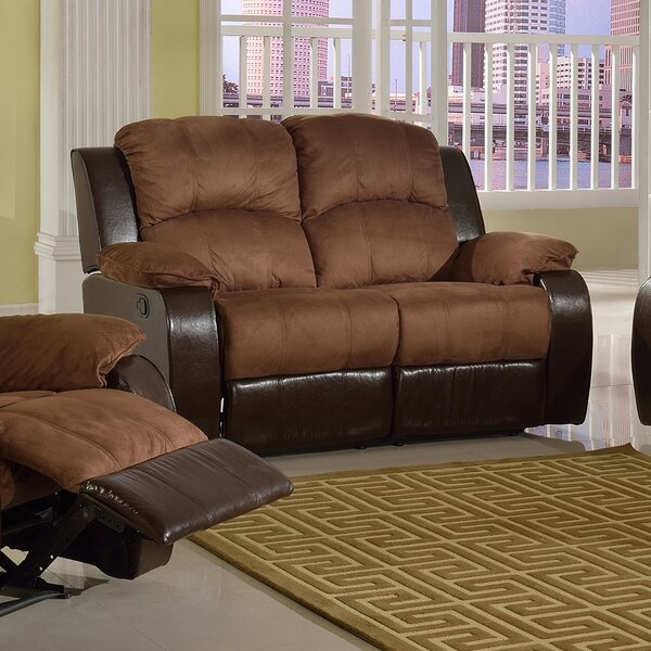 Pamela Microsuede Reclining Loveseat by Beverly Fine Furniture