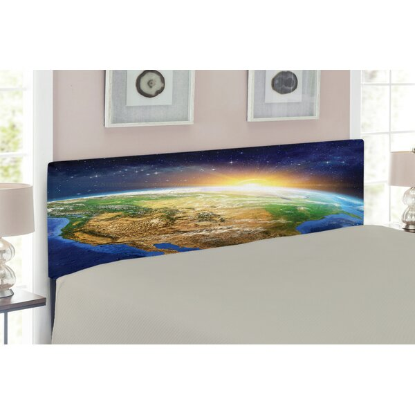 Outer Space Queen Upholstered Panel Headboard by East Urban Home East Urban Home