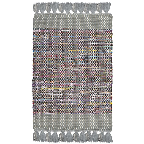 Abner Hand-Woven Gray/Yellow Area Rug by Harriet Bee