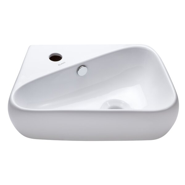 Ceramic 18 Wall Mount Bathroom Sink by Elanti