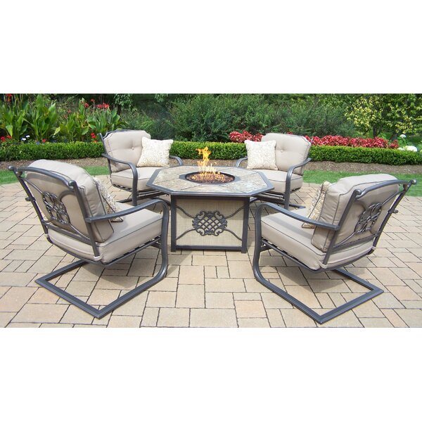 5 Piece Deep Seating Chat Set with Cushions by Oakland Living