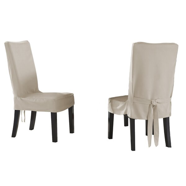 Box Cushion Dining Chair Slipcover (Set of 2) by S