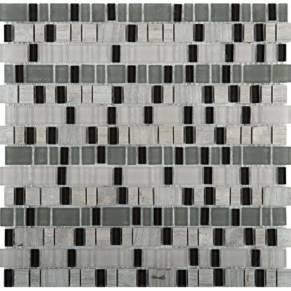 Unique Random Sized Mixed Material Mosaic Tile in Ode by Emser Tile