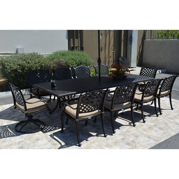 Middleburgh 11 Piece Dining Set with Cushions by Darby Home Co