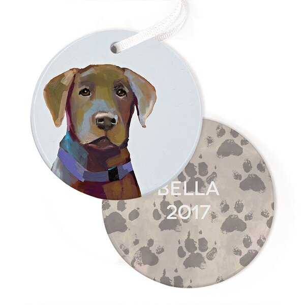 Personalized Best Friend Lab Hanging Ornament by GreenBox Art