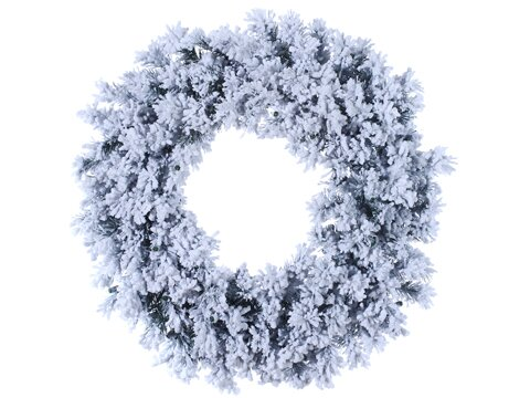 30 Artificial Flocked & Glittered Chestnut Jubilee Pine Christmas Wreath by Tori Home