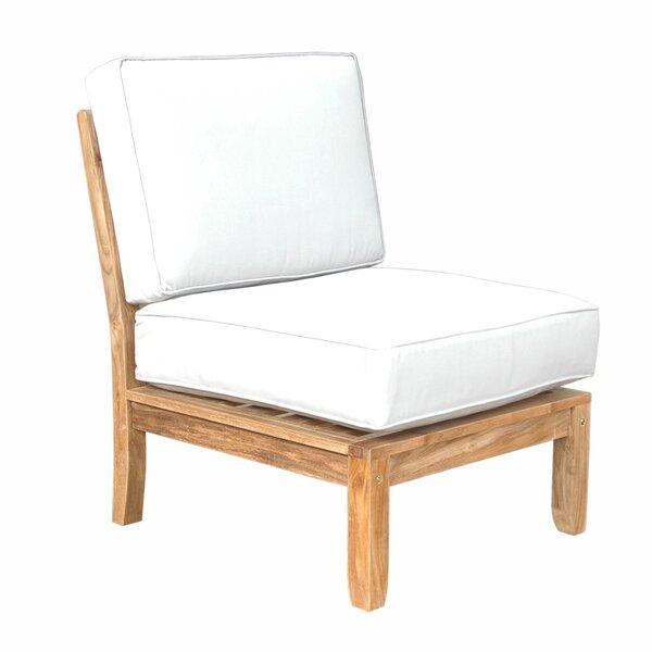 Dustin Teak Patio Chair with Sunbrella Cushions by Longshore Tides