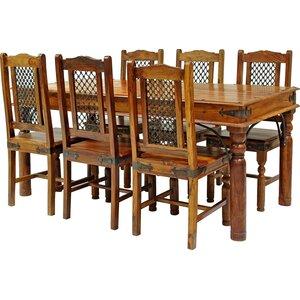 Essgruppe Ganga mit 6 Stühlen
