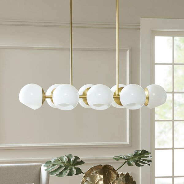 Asher 8-Light Kitchen Island Pendant by Langley Street