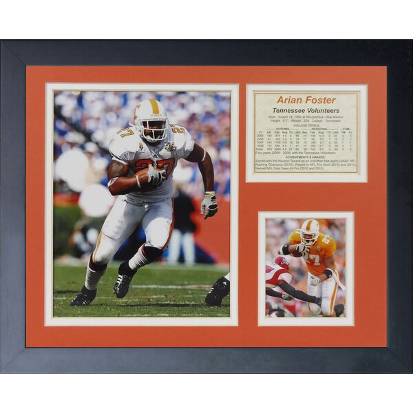 Arian Foster - Tennessee Framed Memorabilia by Legends Never Die