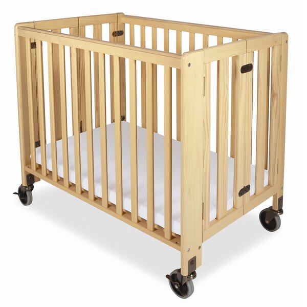 Hideaway Full Size Folding Crib with Mattress by Foundations