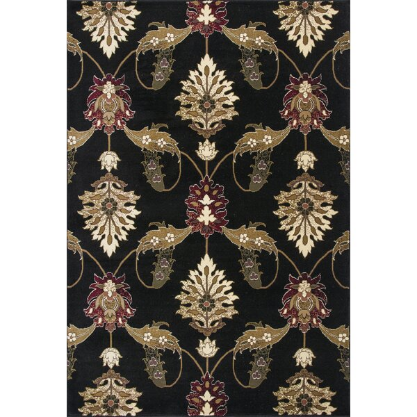 Greenfield Black Area Rug by Charlton Home
