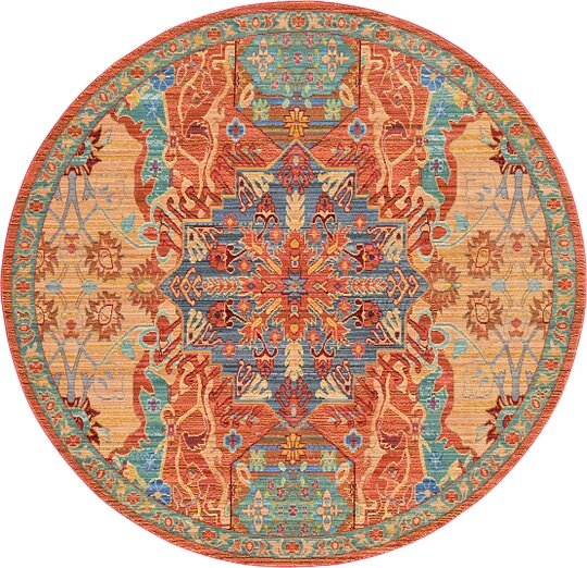 Rune Peach Area Rug by Bungalow Rose
