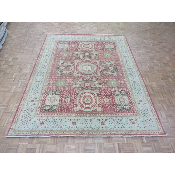 One-of-a-Kind Pagan Hand-Knotted Wool Rust Red Area Rug by Bloomsbury Market