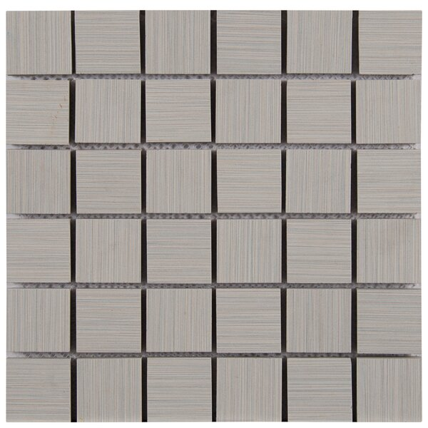 Focus 2 x 2 Porcelain Mosaic Tile in Gray by MSI