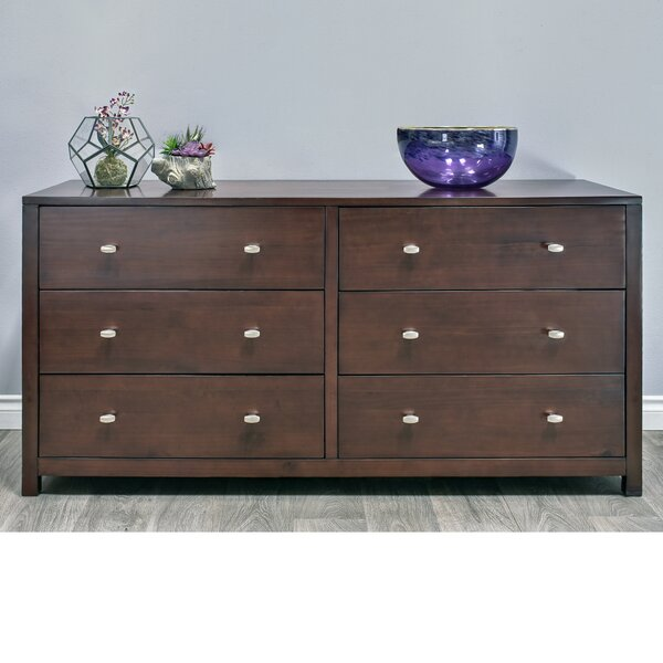 Stowers 6 Drawer Double dresser by Charlton Home
