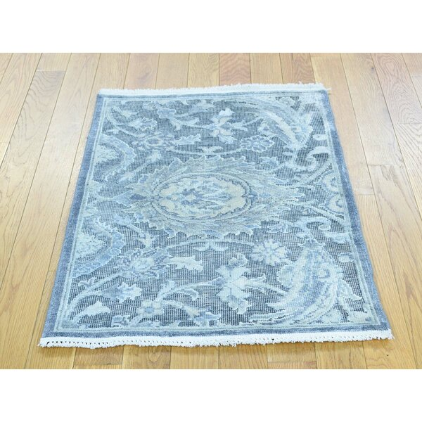 One-of-a-Kind Brino Hand-Knotted Wool Area Rug by Isabelline