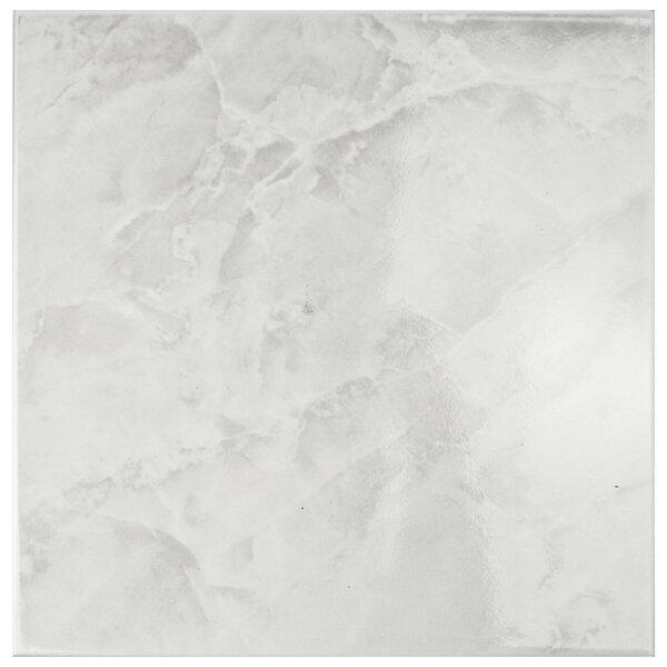 Alpha 11.75 x 11.75 Ceramic Field Tile in White/Gray by EliteTile