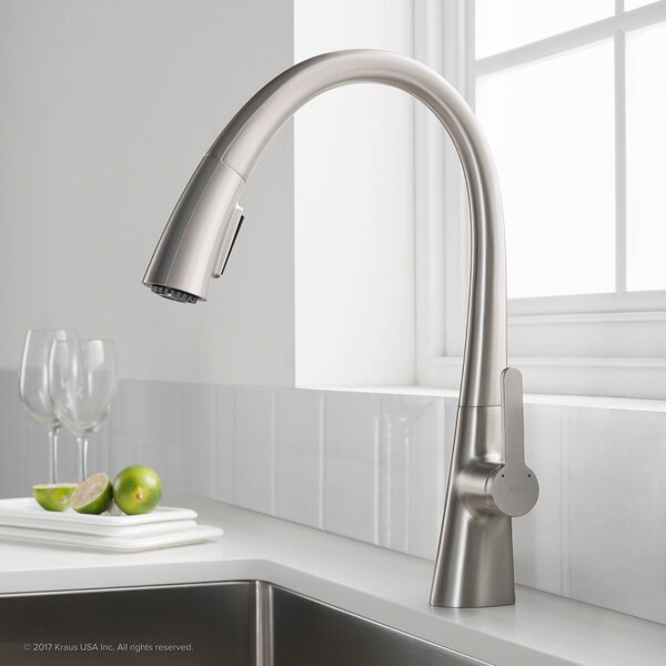 Nolen™ Single Handle Pull Down Bar Faucet by Kraus