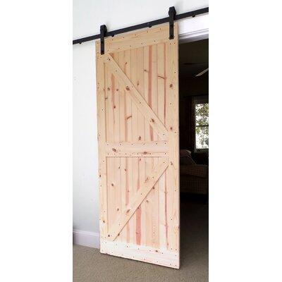 Bar Harbor Cedar Paneled Wood Barn Door without Installation Hardware Kit